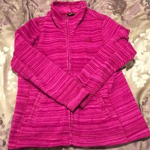 The north face ladies magenta / pink fleece jacket